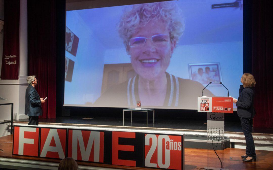 """Lola Gómez Ferrón, Premio a la """"Trayectoria Empresarial"""" en el 20 aniversario de FAME."""